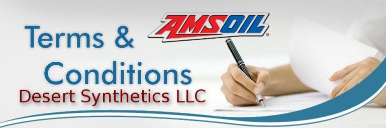Desert Synthetics LLC® Terms & Conditions