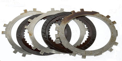 Automatic Transmission Clutch Plates Post-Cleanup