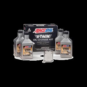 V-Twin Oil Oil Change Kit Chrome Oil Filter HDCK