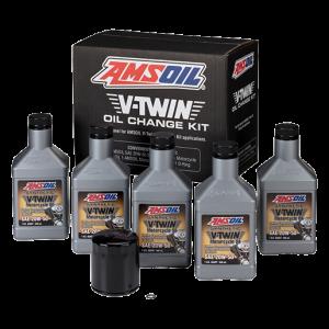 V-Twin Oil Oil Change Kit Chrome Oil Filter HDMB