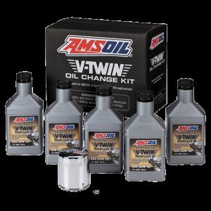 V-Twin Oil Oil Change Kit Chrome Oil Filter HDMC