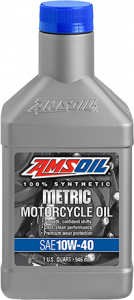 Amsoil 10W-40 Synthetic Metric Motorcycle Oil MCF
