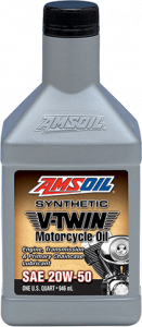 Amsoil 20W-50 Synthetic V-Twin Motorcycle Oil MCV